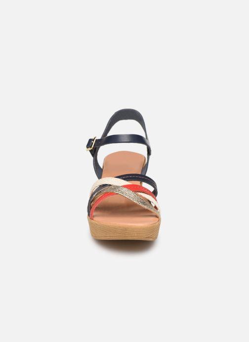 Sandales et nu-pieds Georgia Rose Mireilla Bleu vue portées chaussures