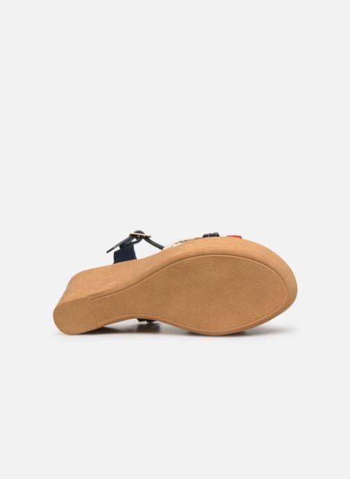 Sandales et nu-pieds Georgia Rose Mireilla Bleu vue haut
