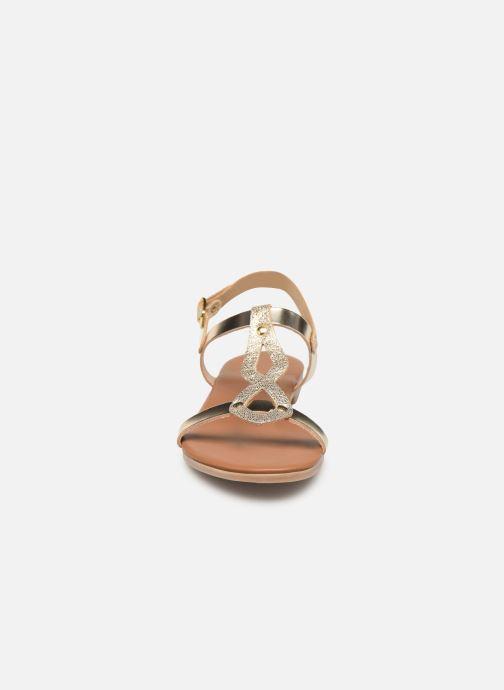 Sandales et nu-pieds Georgia Rose Migouta Or et bronze vue portées chaussures