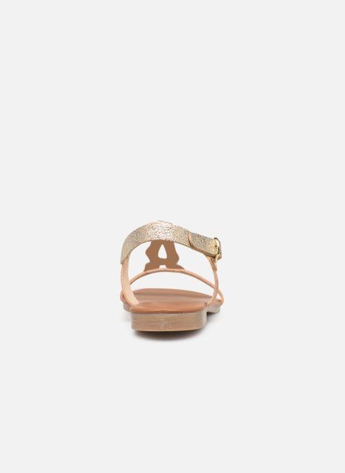 Sandales et nu-pieds Georgia Rose Migouta Or et bronze vue droite