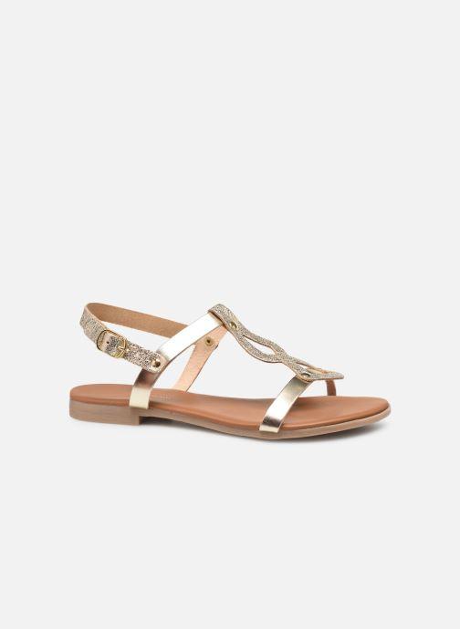 Sandales et nu-pieds Georgia Rose Migouta Or et bronze vue derrière