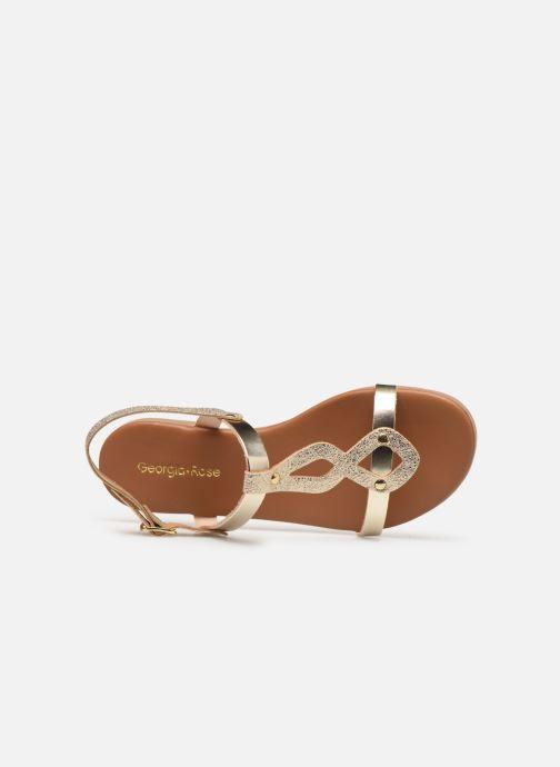 Sandales et nu-pieds Georgia Rose Migouta Or et bronze vue gauche