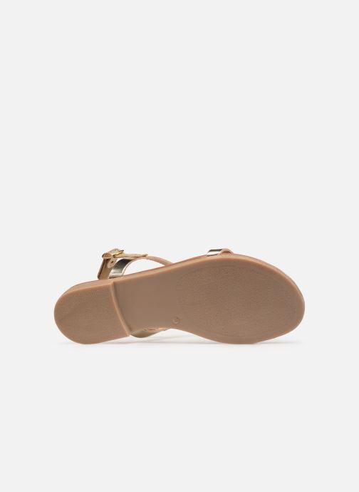 Sandales et nu-pieds Georgia Rose Migouta Or et bronze vue haut