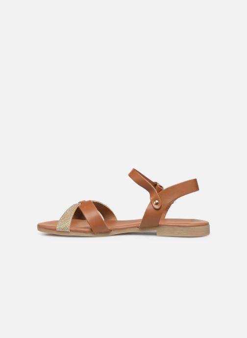 Sandales et nu-pieds Georgia Rose Millya Marron vue face