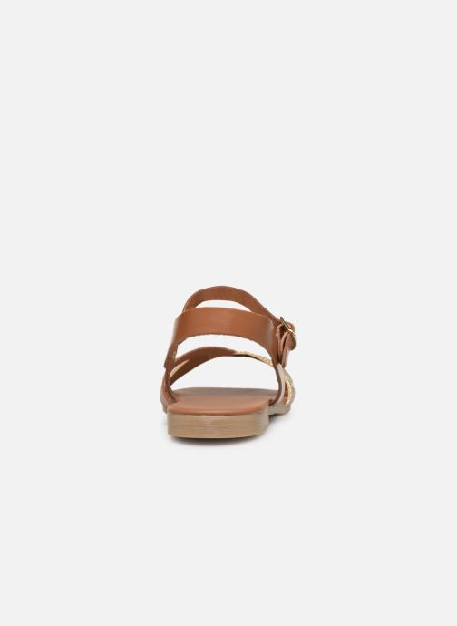 Sandales et nu-pieds Georgia Rose Millya Marron vue droite