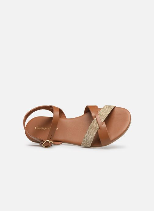 Sandales et nu-pieds Georgia Rose Millya Marron vue gauche