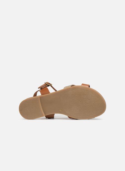 Sandales et nu-pieds Georgia Rose Millya Marron vue haut