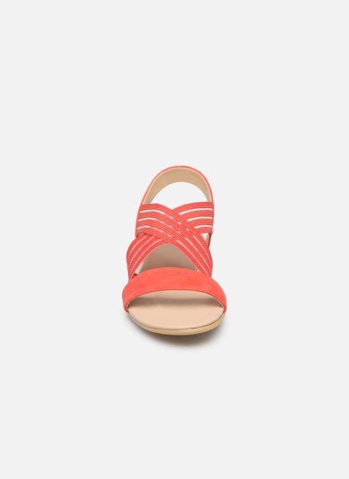 Sandales et nu-pieds Georgia Rose Mibesta Rouge vue portées chaussures