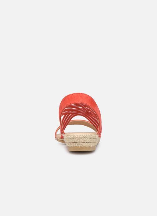 Sandales et nu-pieds Georgia Rose Mibesta Rouge vue droite