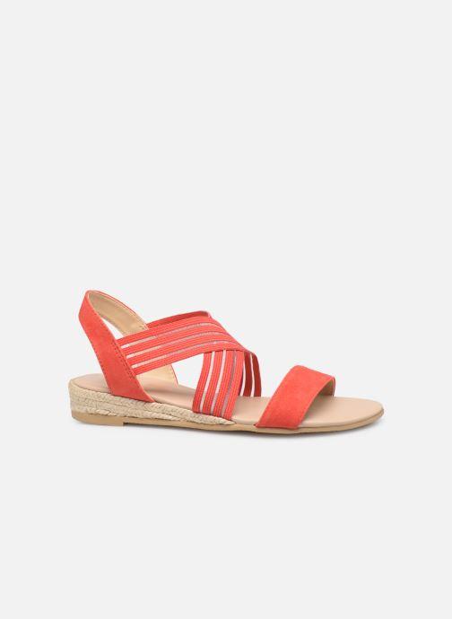 Sandales et nu-pieds Georgia Rose Mibesta Rouge vue derrière