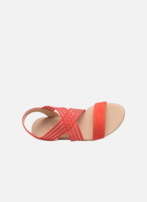 Sandales et nu-pieds Georgia Rose Mibesta Rouge vue gauche