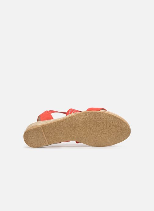 Sandales et nu-pieds Georgia Rose Mibesta Rouge vue haut