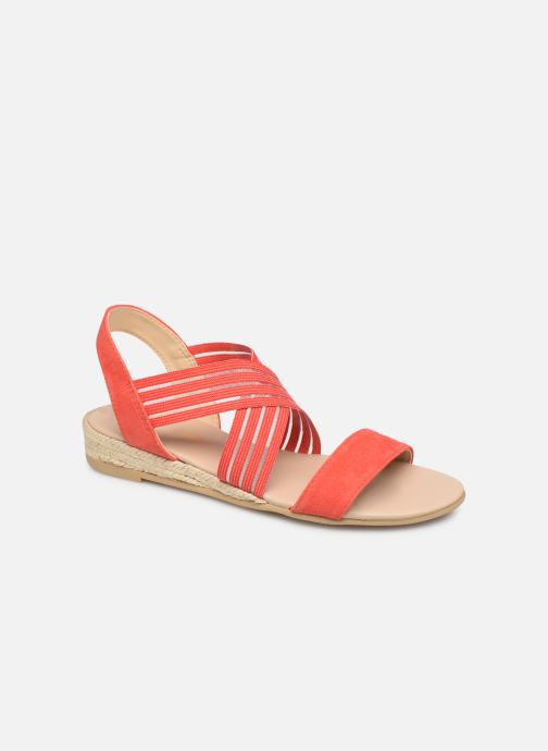 Sandales et nu-pieds Georgia Rose Mibesta Rouge vue détail/paire