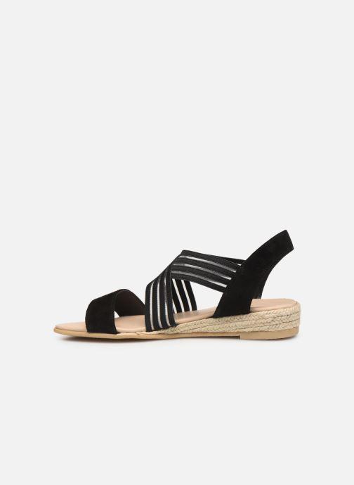 Sandales et nu-pieds Georgia Rose Mibesta Noir vue face