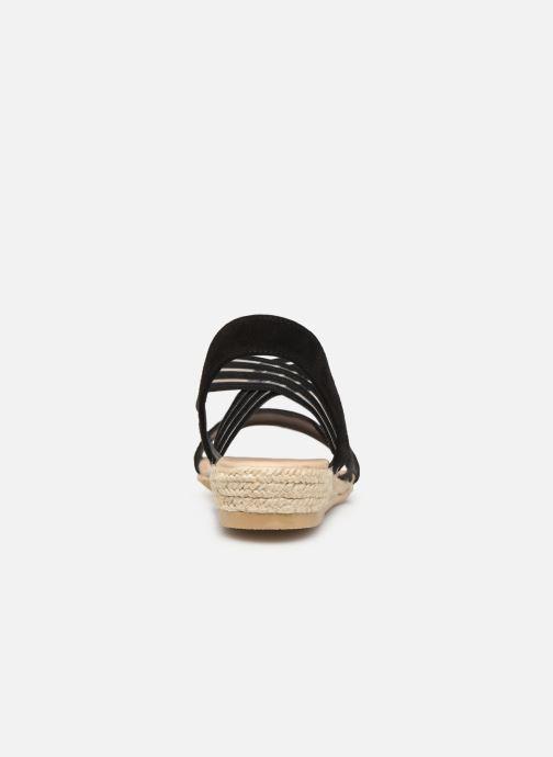 Sandales et nu-pieds Georgia Rose Mibesta Noir vue droite