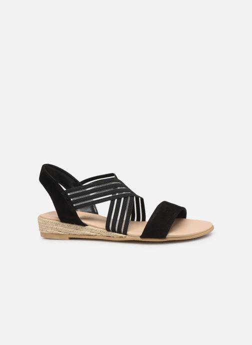Sandales et nu-pieds Georgia Rose Mibesta Noir vue derrière