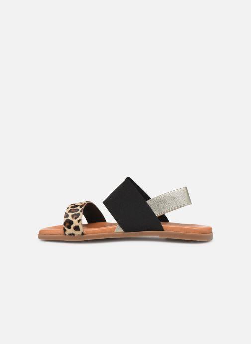 Sandales et nu-pieds Georgia Rose Milastic Noir vue face