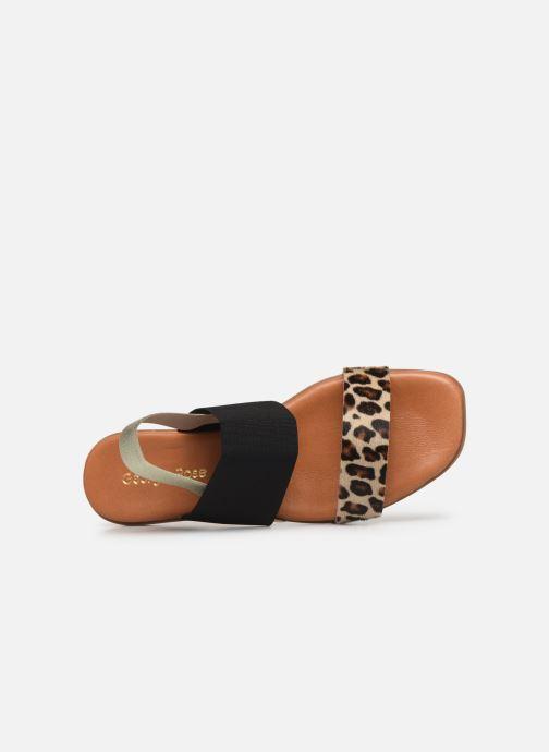 Sandales et nu-pieds Georgia Rose Milastic Noir vue gauche