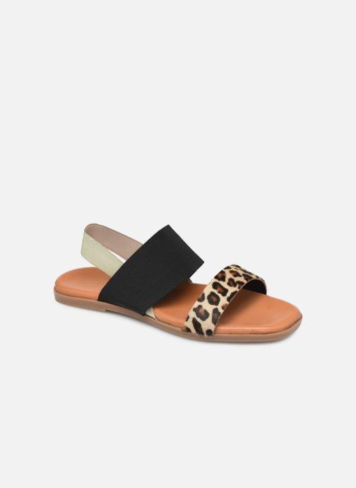 Sandaler Georgia Rose Milastic Sort detaljeret billede af skoene