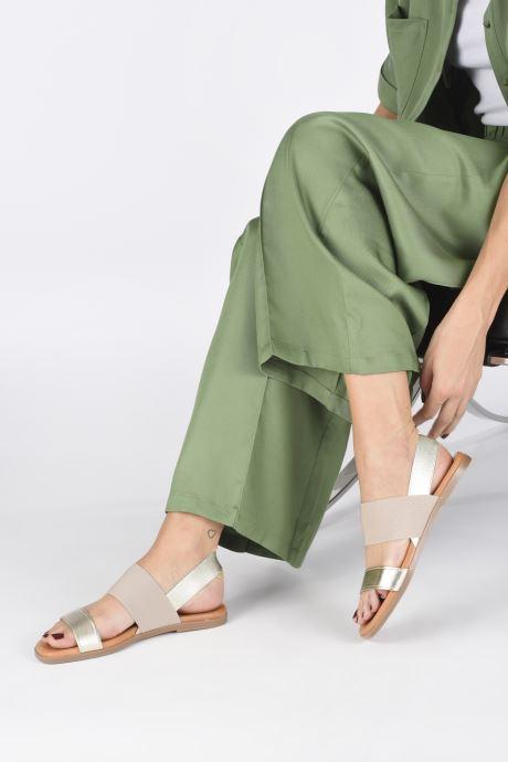 Sandales et nu-pieds Georgia Rose Milastic Or et bronze vue bas / vue portée sac