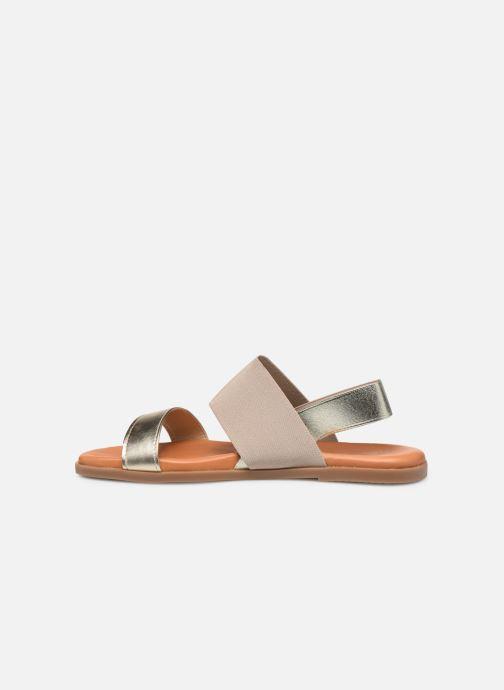 Sandales et nu-pieds Georgia Rose Milastic Or et bronze vue face