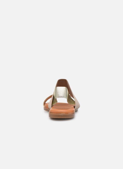 Sandales et nu-pieds Georgia Rose Milastic Or et bronze vue droite