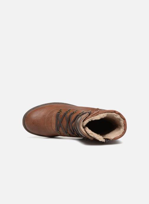 Boots en enkellaarsjes Mustang shoes 1264607 Bruin links
