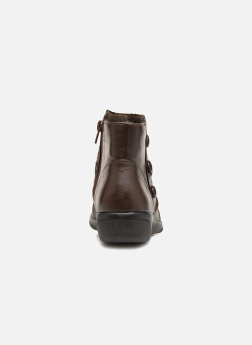 Bottines et boots Clarks Cheyn Anne Marron vue droite
