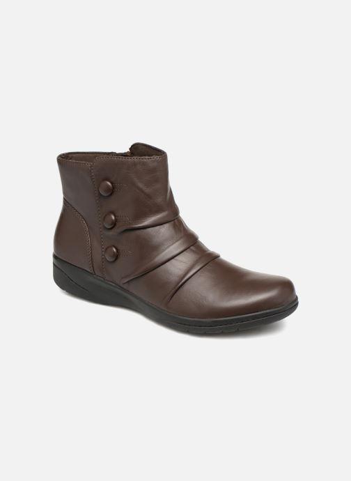 Bottines et boots Clarks Cheyn Anne Marron vue détail/paire