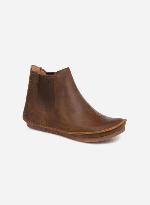 Bottines et boots Clarks Janey Dee Marron vue détail/paire