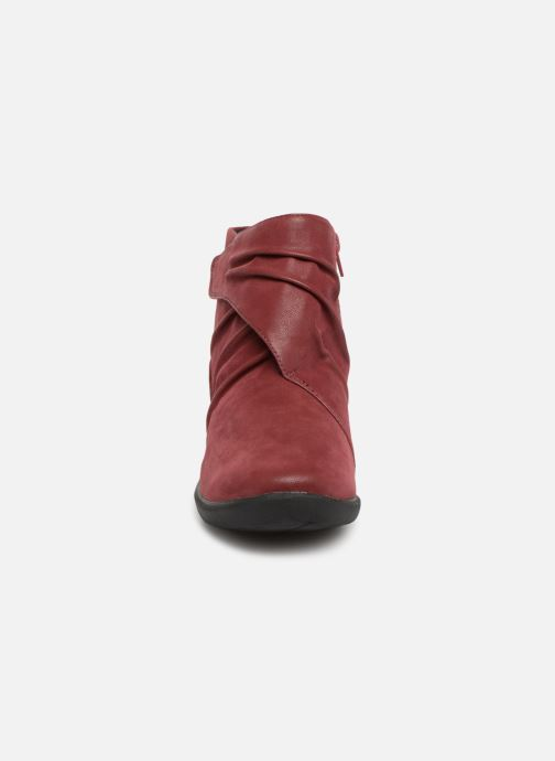 Ankle boots Clarks Sillian Tana Burgundy model view