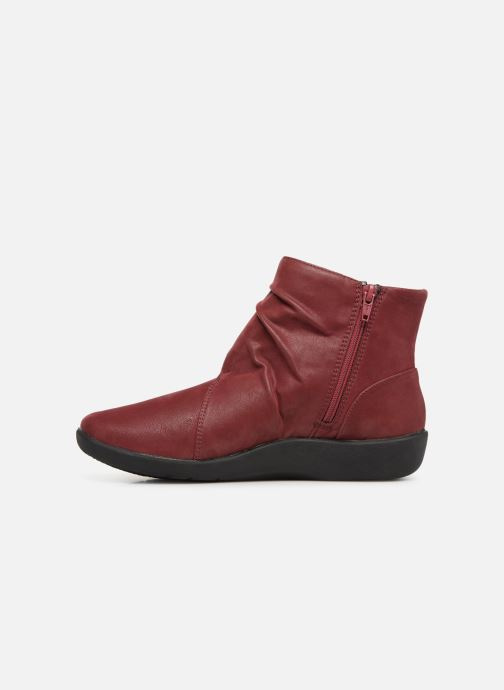 Ankle boots Clarks Sillian Tana Burgundy front view