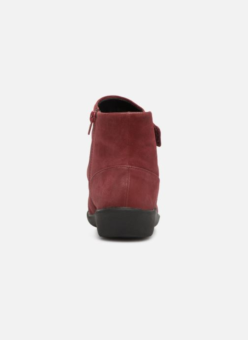 Ankle boots Clarks Sillian Tana Burgundy view from the right