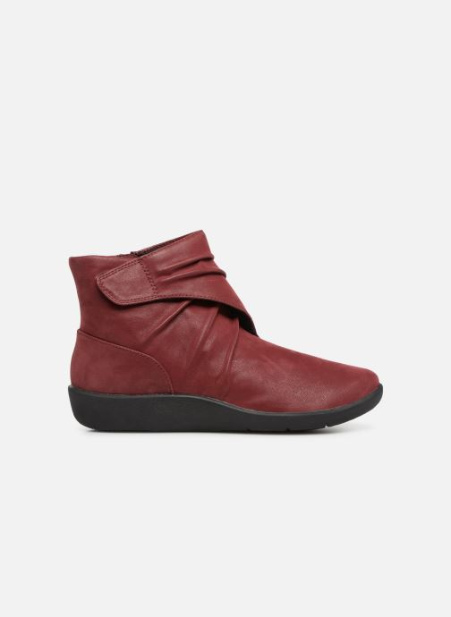Ankle boots Clarks Sillian Tana Burgundy back view