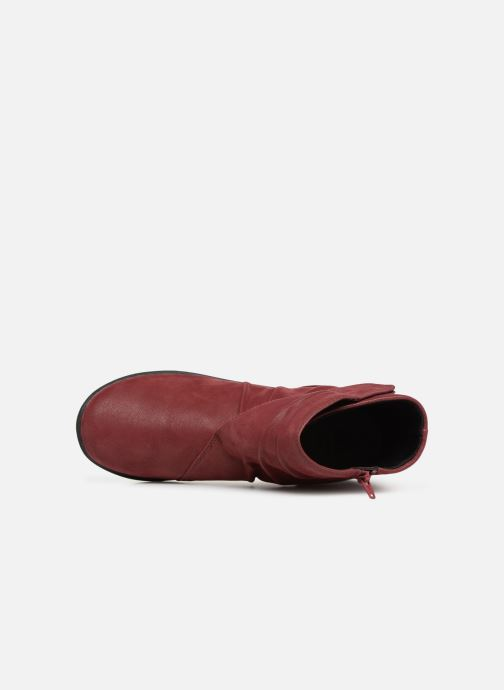 Ankle boots Clarks Sillian Tana Burgundy view from the left