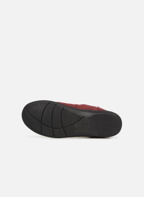 Bottines et boots Clarks Sillian Tana Bordeaux vue haut