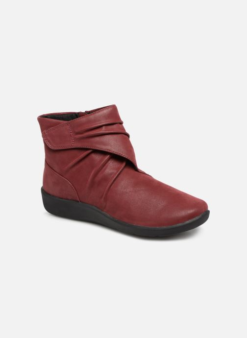 Ankle boots Clarks Sillian Tana Burgundy detailed view/ Pair view