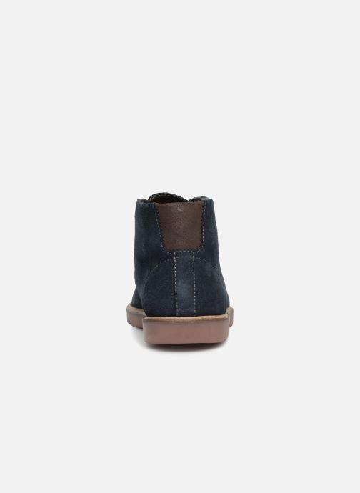 Bottines et boots Clarks Grandin Mid Bleu vue droite
