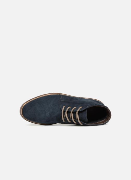 Bottines et boots Clarks Grandin Mid Bleu vue gauche