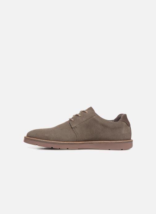 Chaussures à lacets Clarks Grandin Plain Gris vue face