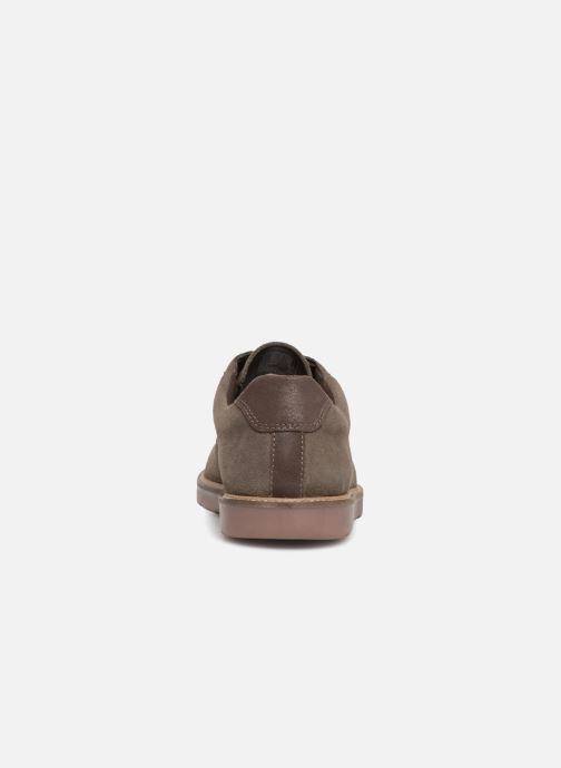 Zapatos con cordones Clarks Grandin Plain Gris vista lateral derecha