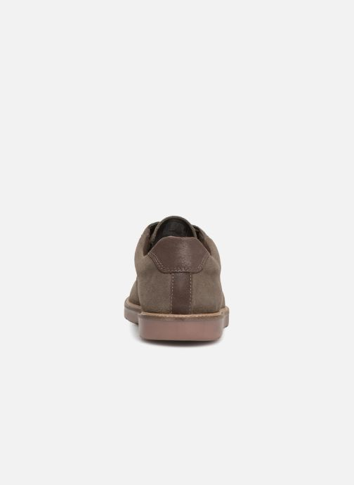 Chaussures à lacets Clarks Grandin Plain Gris vue droite