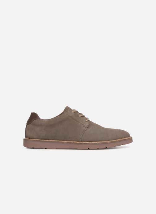 Chaussures à lacets Clarks Grandin Plain Gris vue derrière