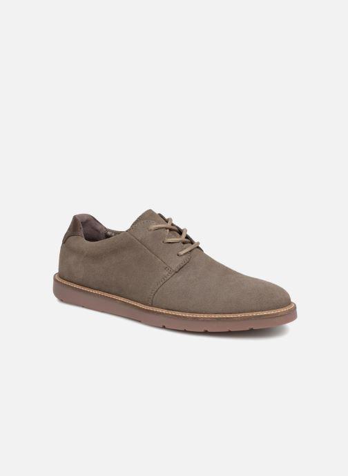 Chaussures à lacets Clarks Grandin Plain Gris vue détail/paire