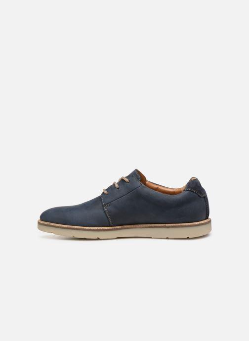 Lace-up shoes Clarks Grandin Plain Blue front view