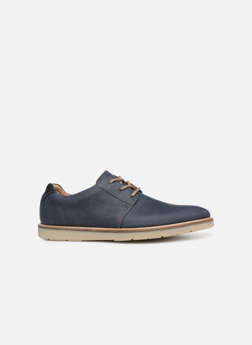 Chaussures à lacets Clarks Grandin Plain Bleu vue derrière