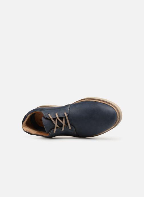Zapatos con cordones Clarks Grandin Plain Azul vista lateral izquierda