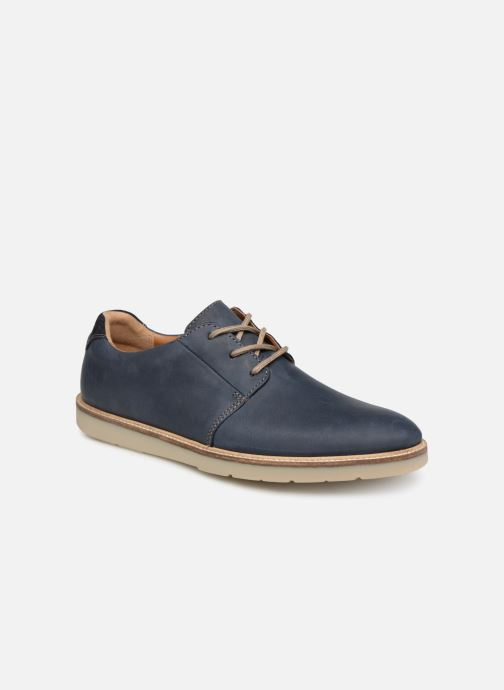 Lace-up shoes Clarks Grandin Plain Blue detailed view/ Pair view