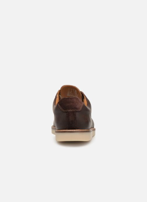 Lace-up shoes Clarks Grandin Plain Brown view from the right