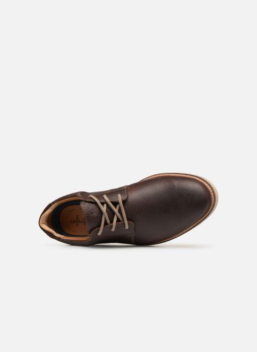 Zapatos con cordones Clarks Grandin Plain Marrón vista lateral izquierda